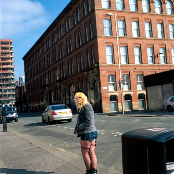 """girl looking back-manchester 2011 silver-dye bleach print 40"""" x 40""""   24"""" x 24""""  edition of 3   5"""