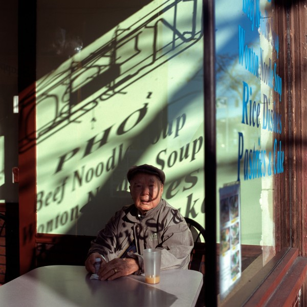 """morning light in chinatown-seattle 2011 silver-dye bleach print 40"""" x 40""""   24"""" x 24""""  edition of 3   5"""