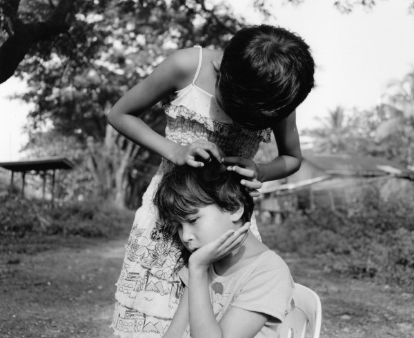"""picking lice dallah 2013 toned gelatin silver print 40"""" x 49""""   18"""" x 22"""" edition of 3   5"""