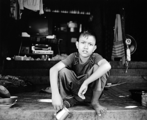 """boy with cup nyaung u 2013 toned gelatin silver print 40"""" x 49""""   18"""" x 22"""" edition of 3   5"""