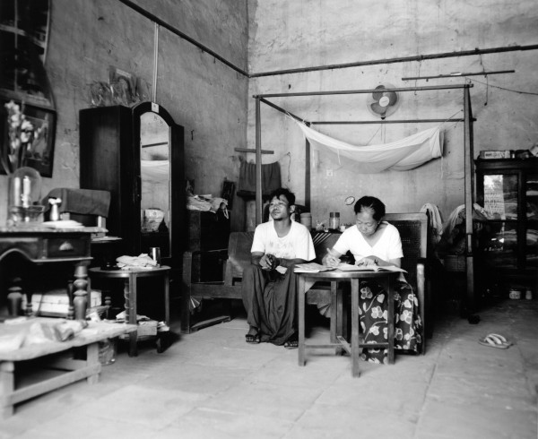 """mother and son interior nyaung u 2013 toned gelatin silver print 40"""" x 49""""   18"""" x 22"""" edition of 3   5"""